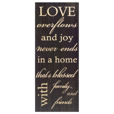 Love Overflows Plaque