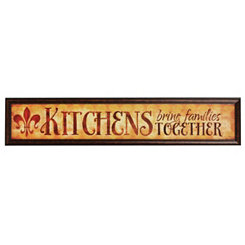 Kitchens & Families Framed Art Print