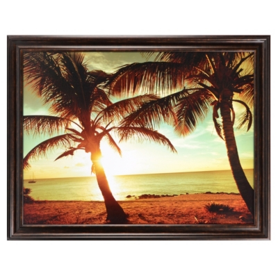 Bimini Beach Sunset Framed Art Print
