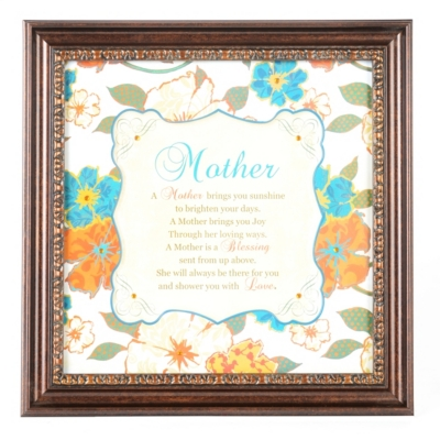 Mother Sentiment Framed Art Print