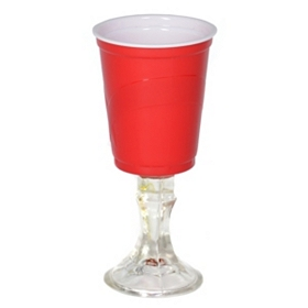 Red Cup Wine Glass
