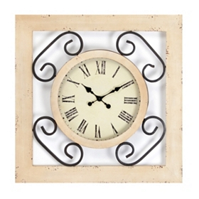 Sadie Wood & Metal Clock