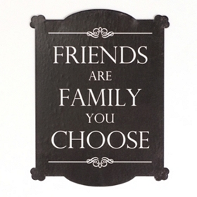 Friends Tin Wall Plaque