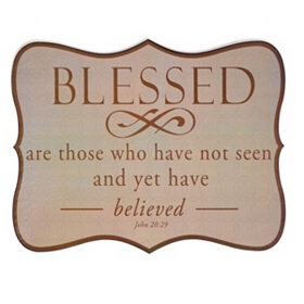 Blessed Tin Wall Plaque