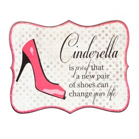 Cinderella Tin Wall Plaque