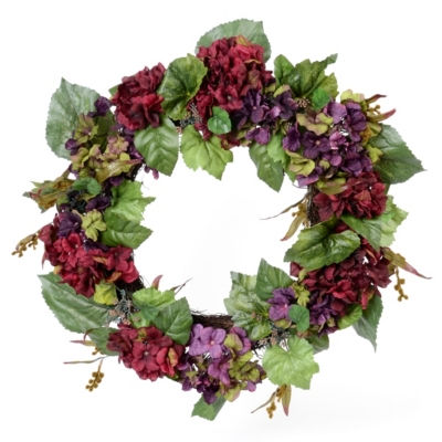 Jeweled Hydrangea Wreath