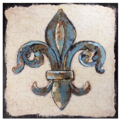Blue Fleur-de-Lis Canvas Art Print