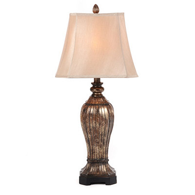 Metallic Bronze Resin Table Lamp