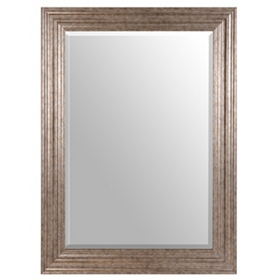 Antique Silver Framed Mirror, 32x44