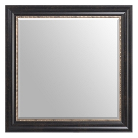 Gold Trimmed Espresso Mirror, 30x30