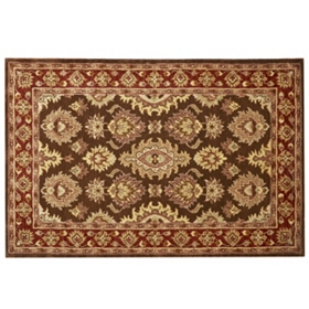Richmond Coffee 100% Wool Area Rug