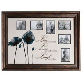 Live, Love, Laugh Screen Print Collage Frame