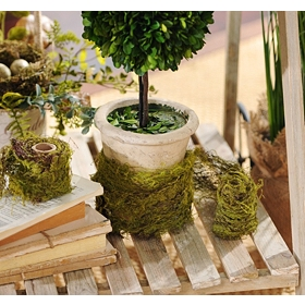 Faux Moss Ribbon