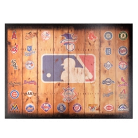MLB Wood Crate Plaque