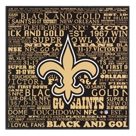 New Orleans Saints Victory Plaque