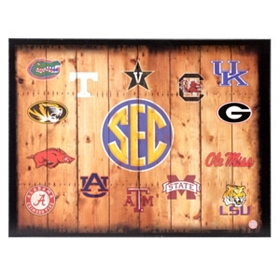 SEC Wood Crate Plaque