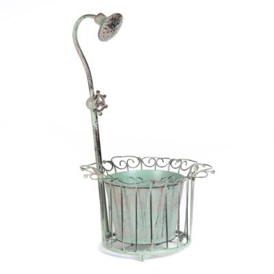 Vintage Faucet Metal Planter