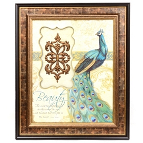 Life's Blessings Peacock Shadowbox