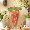 Burlap Carrot Easter Plaque