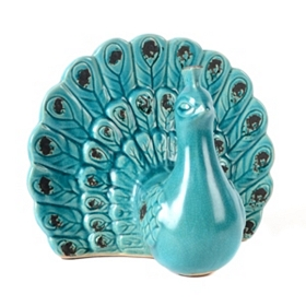 Ceramic Peacock Statue