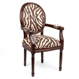 Chocolate Zebra Arm Chair