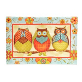 Three Wise Owls Canvas Art Print