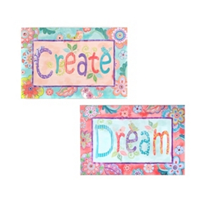 Dream & Create Canvas Art Prints