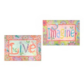Imagine & Live Canvas Art Prints