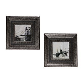 Cityscape Framed Art Sketches