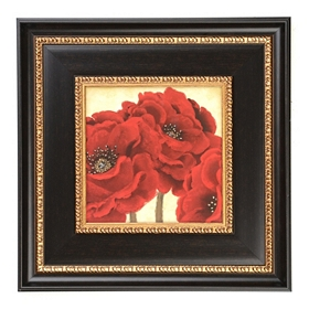 Jacobean Poppies Framed Art Print