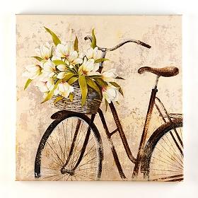 Panier de Fleurs Canvas Art Print