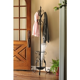 City Street Black Coat Rack
