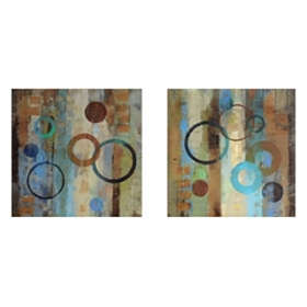 Bubble Graffiti Canvas Art Print, Set of 2