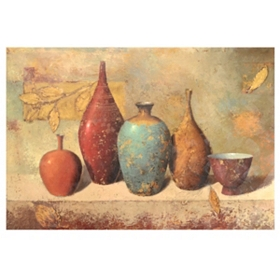 Leaves & Vessels Canvas Art Print