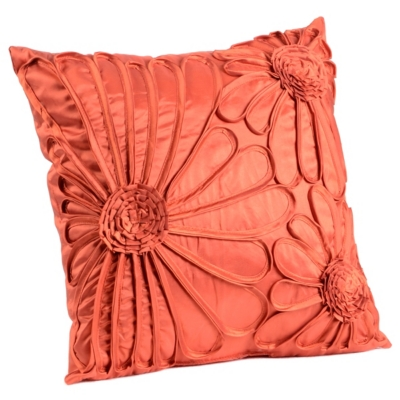 Upscale Spice Flower Pillow