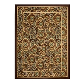 Jackson Blue & Brown Floral Rug, 5x7