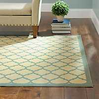 5x7 Jackson Blue Lattice Rug