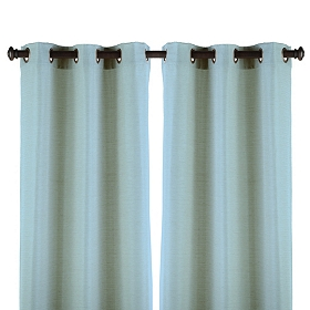 Robin's Egg Blue Curtain Panel, Set of 2