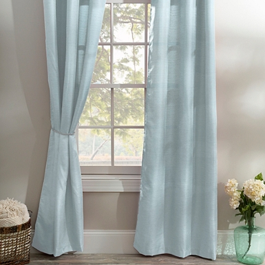 ice blue curtain panel set 84 in - Home Decor Curtains