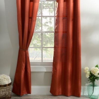 Spice Orange Curtain Panel Set, 84 in.