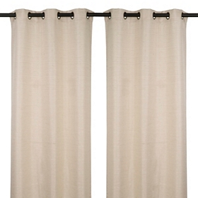 Taupe Curtain Panel, Set of 2