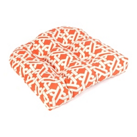 Orange Geometric Outdoor Cushion
