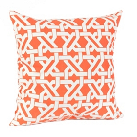 Orange Geometric Outdoor Pillow