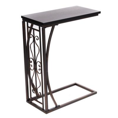 Metal & Wood Slipper Table