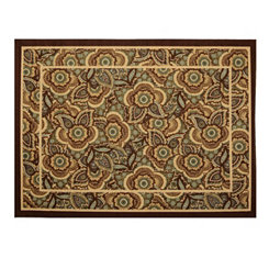 Jackson Blue & Brown Floral Scatter Rug