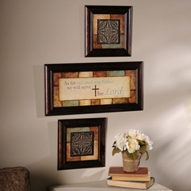Serve the Lord Shadowbox, Set of 3