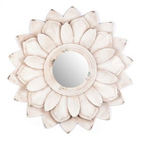 Lucy Flower Petal Wall Mirror