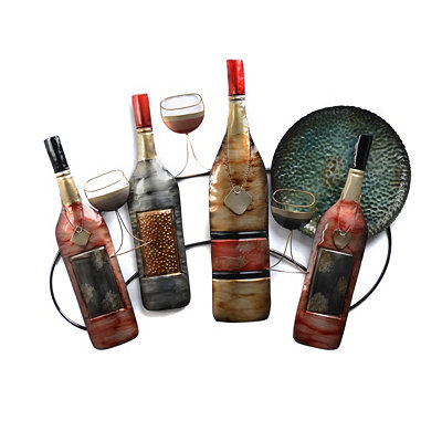 Wine Nights Metal Wall Art