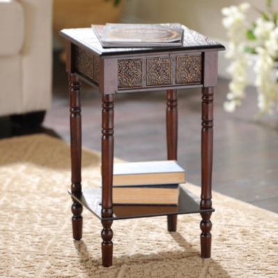 Cates Square Mahogany Accent Table