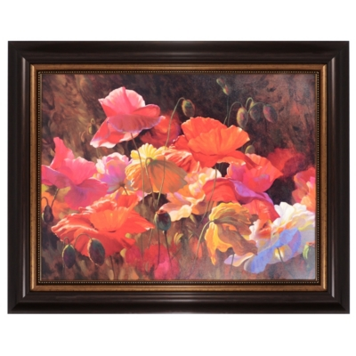 Poppies In Sunshine Framed Art Print
